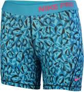 Nike Big Girls' (7-16) Pro Allover Print Boy Training Shorts