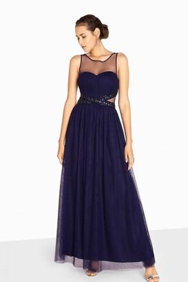 Little Mistress Katie Jewel Waist Maxi Prom Dress