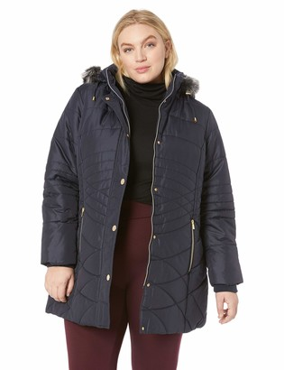 Details Women's Plus Size Walker Long Length Puffer