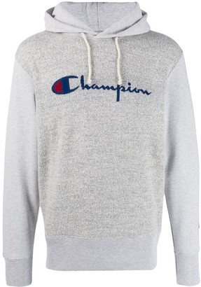 Champion Logo Intarsia Knitted Hoodie