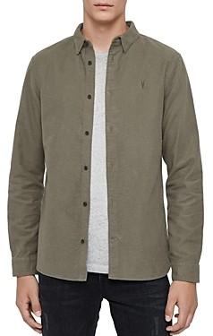 AllSaints Nordheim Moleskin Slim Fit Shirt