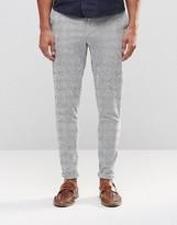 Asos Skinny Smart Pants In Stripes