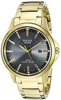 Pulsar Men's PX3076 Solar Dress Analog Display Japanese Quartz Gold Watch
