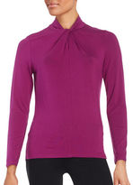 Lord & Taylor Twist-Neck Top