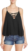 Ella Moss Stella Lace-Up Tank Top