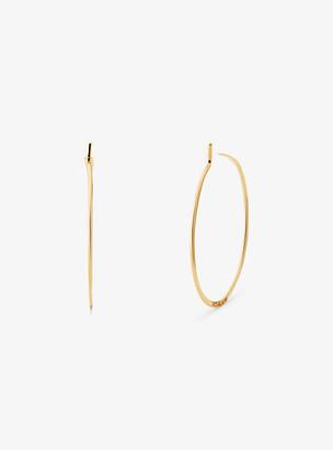 Michael Kors Precious Metal-Plated Sterling Silver Whisper Mini Hoop Earrings