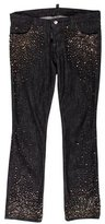 DSQUARED2 Embellished Straight-Leg Jeans