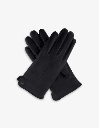 Dents Stud single point-stitched leather gloves