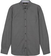 Jaeger Mouline Poplin Shirt, Grey