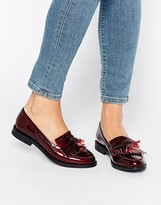 Office Frazzle Tassle Patent Loafers
