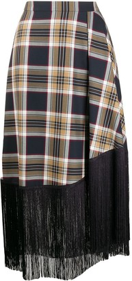 Rokh Fallow Check Skirt