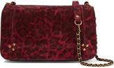 Jerome Dreyfuss Bobi Leopard-print Suede Shoulder Bag - Claret