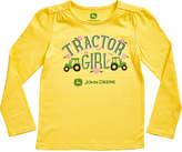 John Deere Yellow 'Tractor Girl' Crewneck Tee - Girls