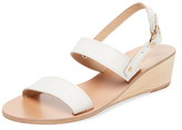 Ancient Greek Sandals Clio Leather Wedge