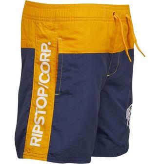 Ripstop Boys Kline Swim Shorts Blue/Yellow