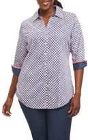 Foxcroft Faith Geo Print Shirt
