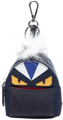 Fendi Sac a Dos Navy Cloth Bag charms