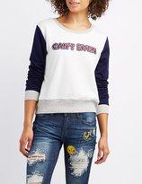 Charlotte Russe Can't Even Colorblock Sweatshirt