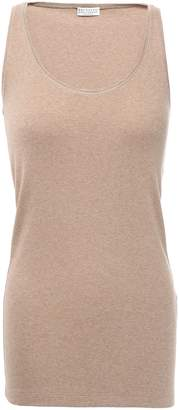 Brunello Cucinelli Bead-embellished Stretch-cotton Tank