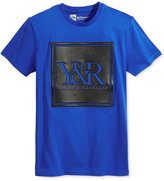 Young & Reckless Men's Trademark Perforated Pieced Embroidered-Logo T-Shirt