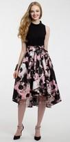 Camille La Vie Beaded Collar High Low Prom Dress