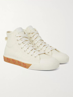 Adidas Consortium + Human Made Nizza Canvas High-Top Sneakers