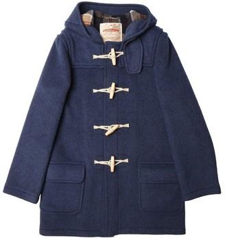 Burrows & Hare - Denim Blue Water Repellent Wool Duffle Coat - M - Blue