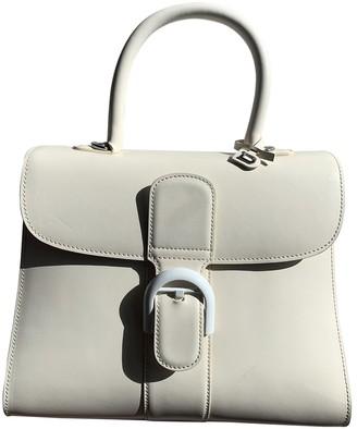 Delvaux Le Brillant Ecru Leather Handbags