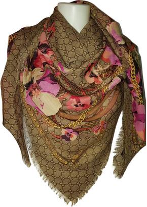 Gucci Beige Wool Scarves