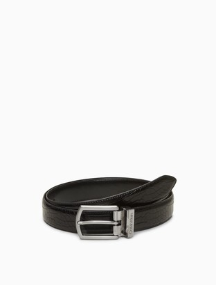 Calvin Klein Embossed Croc Leather Belt