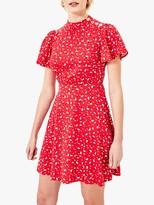 Oasis Floral Skater Dress, Red