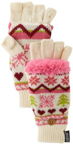 Muk Luks Women's Flip Glove with Faux-Fur Lining