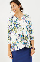 J. Jill Pleated-Back Floral Cardigan