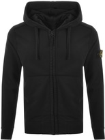 Stone Island Full Zip Hooded Jumper Black