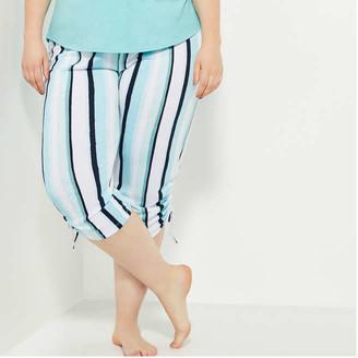 Joe Fresh Women+ Ruched Hem Sleep Pants, Light Aqua (Size 1X)