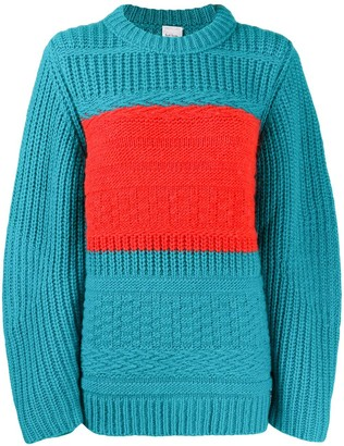 Paul Smith Stripe Detail Chunky Knitted Jumper