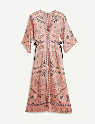 Sandro Galy graphic-print woven maxi dress
