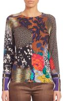 Etro Floral Airbrush Knit Top