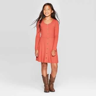 Art Class Girls' Long Sleeve Button Front Dress - art classTM