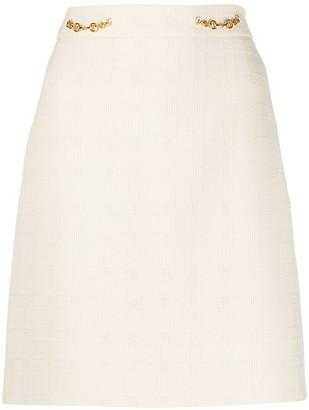 Gucci Horsebit Checked Mini Skirt
