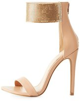 Charlotte Russe Metal Strap Two-Piece Sandals