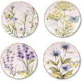 Certified International Herb Garden 4-pc. Dessert Plate Set
