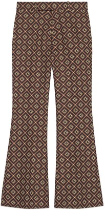 Gucci GG damier cropped flare pant