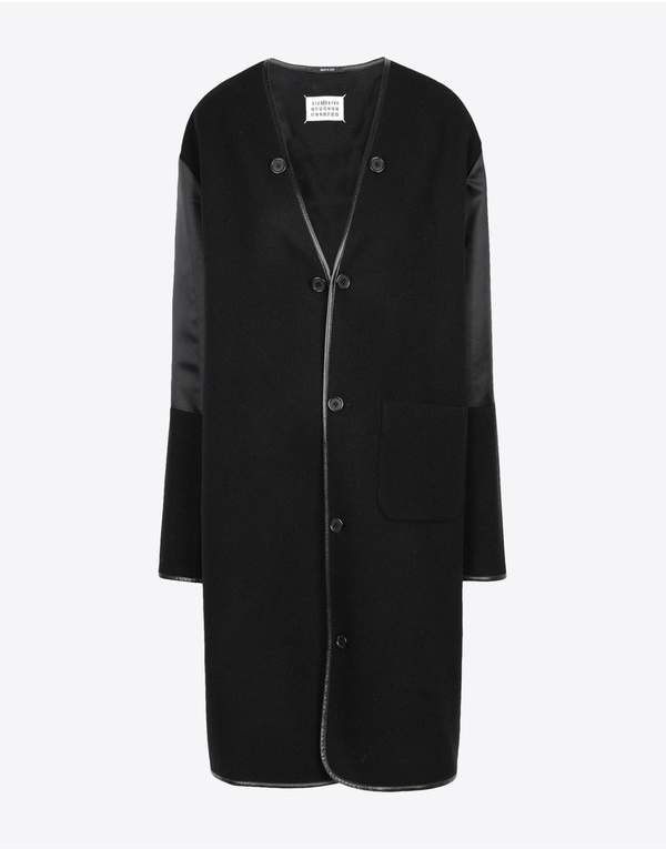 Maison Margiela Wool Coat With Sleek Details