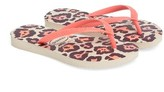 Havaianas Toddler Girl's 'Slim' Animal Print Flip Flop
