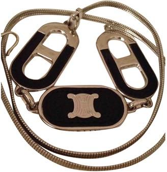 Celine Silver Metal Belts