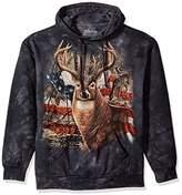 The Mountain Men's Patriotic Buck Hooded Sweatshirt