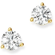 Bloomingdale's Certified Diamond Stud Earrings in 18K Yellow Gold Martini Setting, 0.50 ct. t.w. - 100% Exclusive
