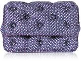 Benedetta Bruzziches Turtles Printed Violet Satin Silk Carmen Shoulder Bag