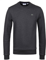 Lacoste Dark Grey Marl Crew Neck Sweater